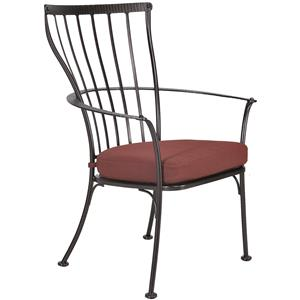 Dining Arm Chair with Seat Cushion