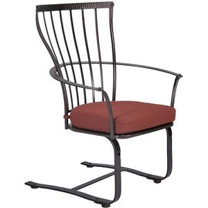 Spring Base Dining Arm Chair with Seat Cushion