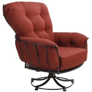 Swivel Rocker Lounge Chair with Four Cushions