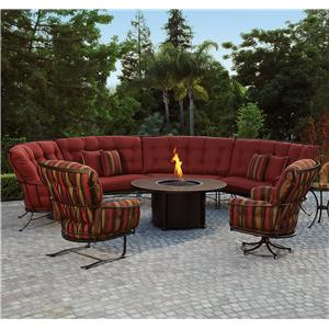 Outdoor Sectional Sofa with Cushions
