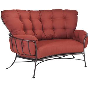 Crescent Love Seat with Four Cushions