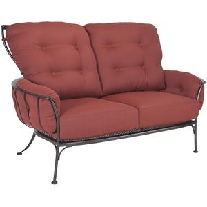 Loveseat with Six Cushions