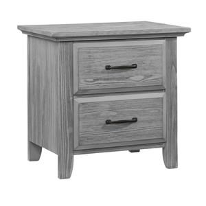 Gray 2 Drawer Nightstand
