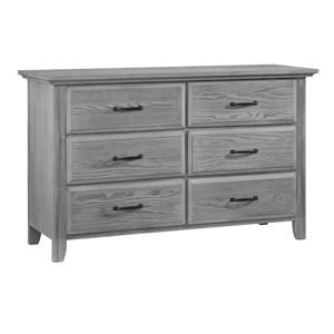 Gray 6 Drawer Dresser