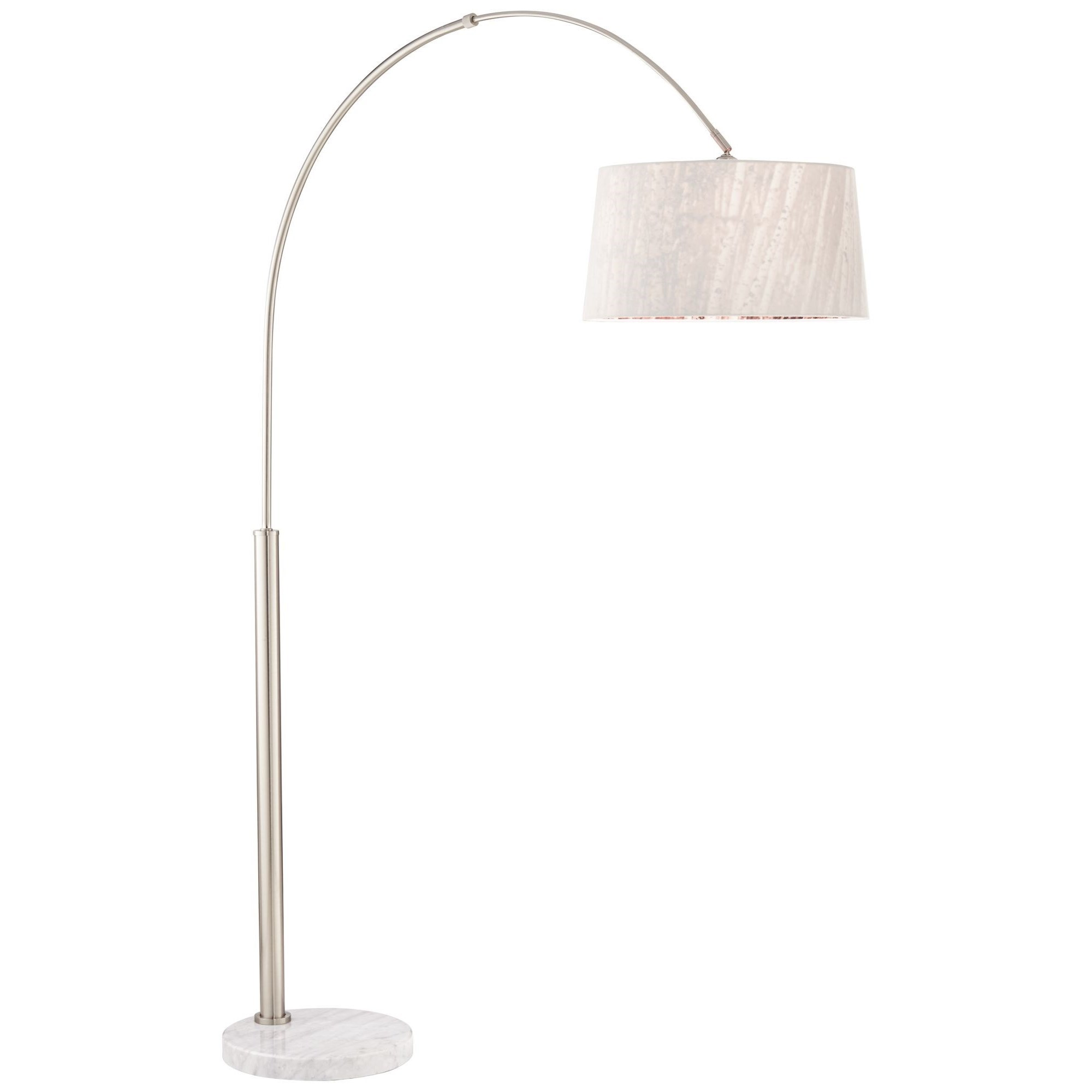 Floor Lamps Arc Nickel 9K606 W/Tree Shd 9K601 Floor Lamp by Pacific Coast Lighting at Furniture Superstore - Rochester, MN