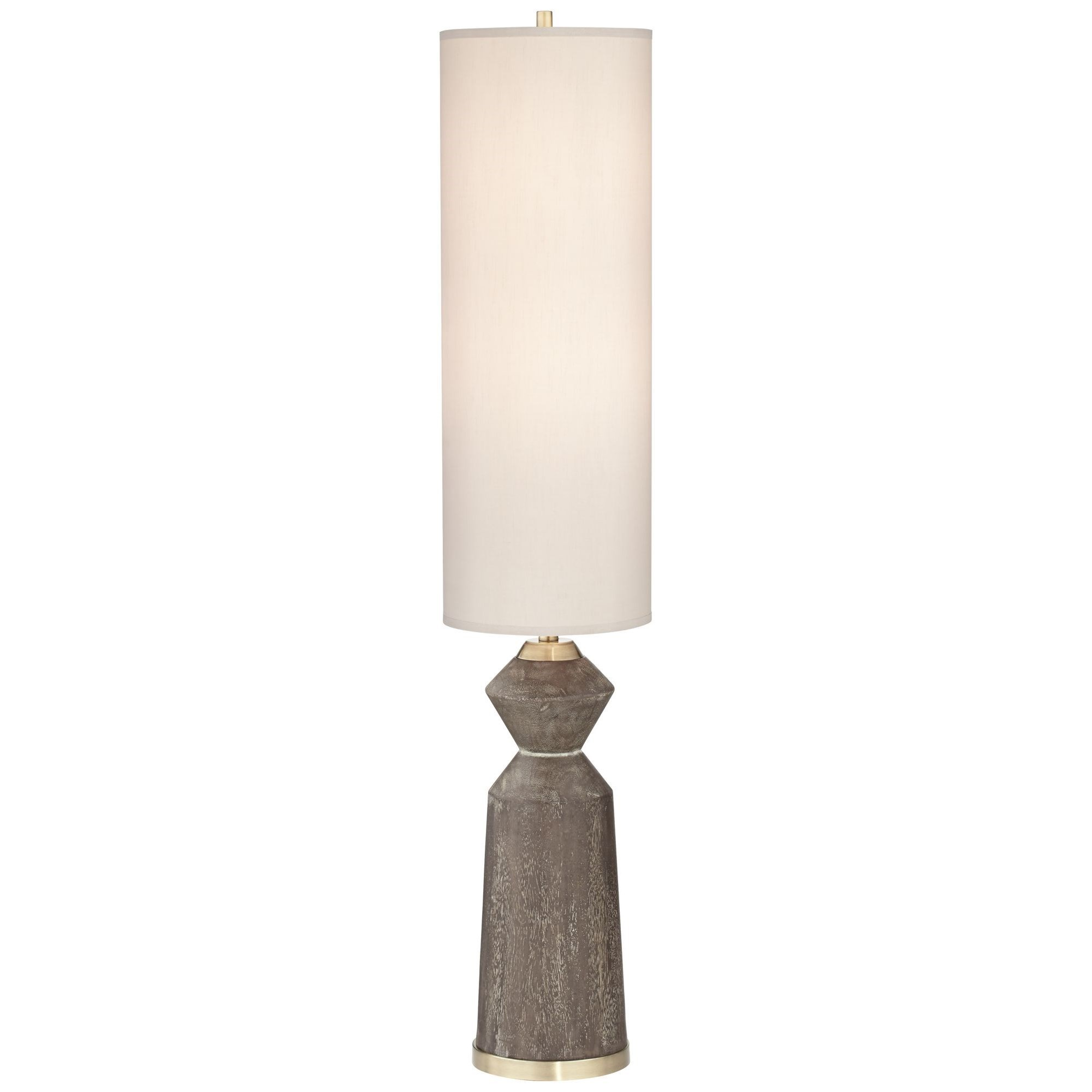 PCL FLOOR LAMPS Column Faux Wood Floor Lamp by PCL LIGHTING at Walker's Furniture