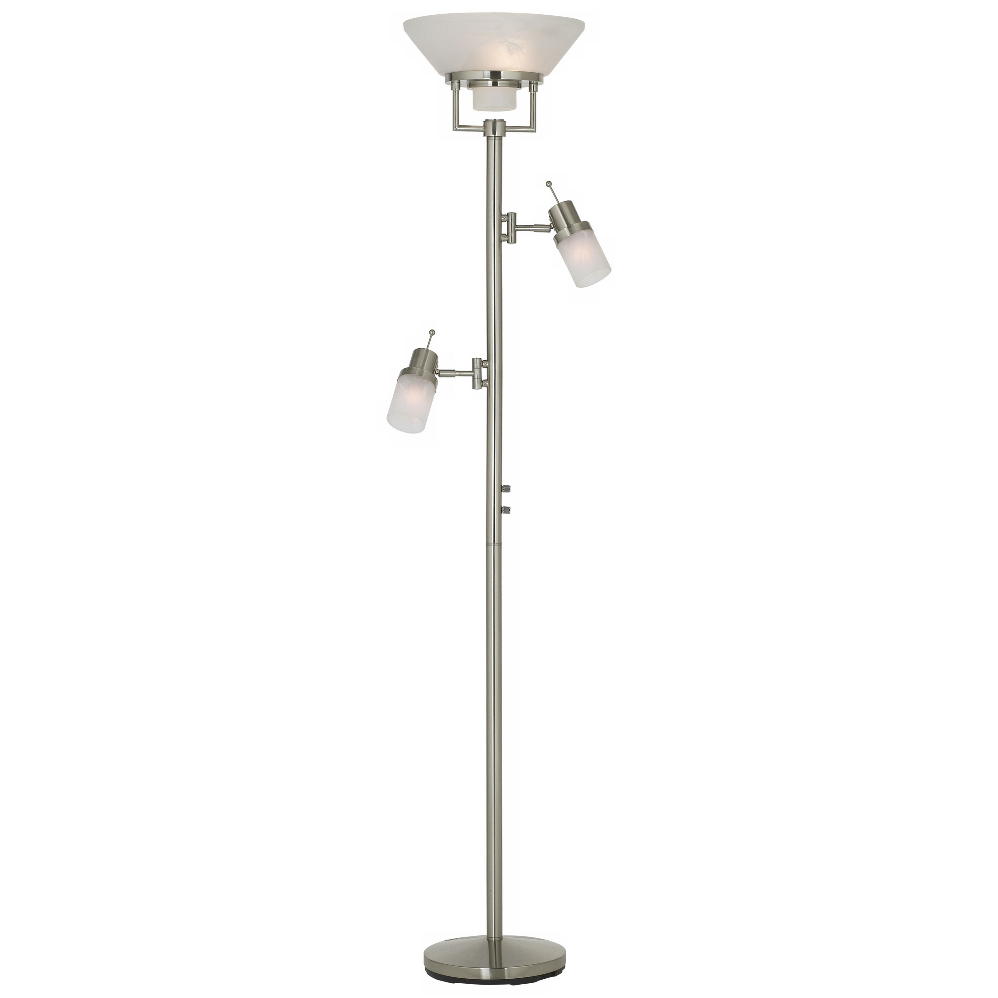 Floor Lamps Techno Chic - Nickel Torchiere by Pacific Coast Lighting at Pedigo Furniture