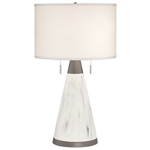 Big Faux Marble Cone Lamp