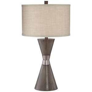 Two Cone Poly Table Lamp