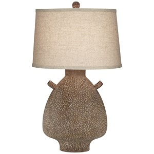 "30""Ht Terracota Table Lamp"