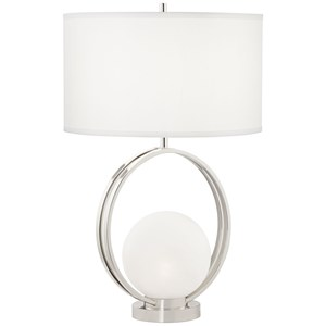 Circle Metal W/Glass Ball Lamp