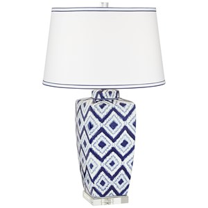 Diamond Pattern Ceramic Lamp