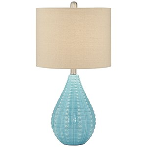Blue Turquoise Coastal Lamp