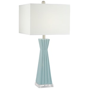 Square Column Ceramic Lamp
