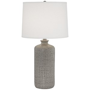 French Grey Ceramic Lamp