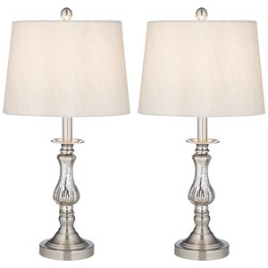 2Pk Mercure Glass Table Lamps