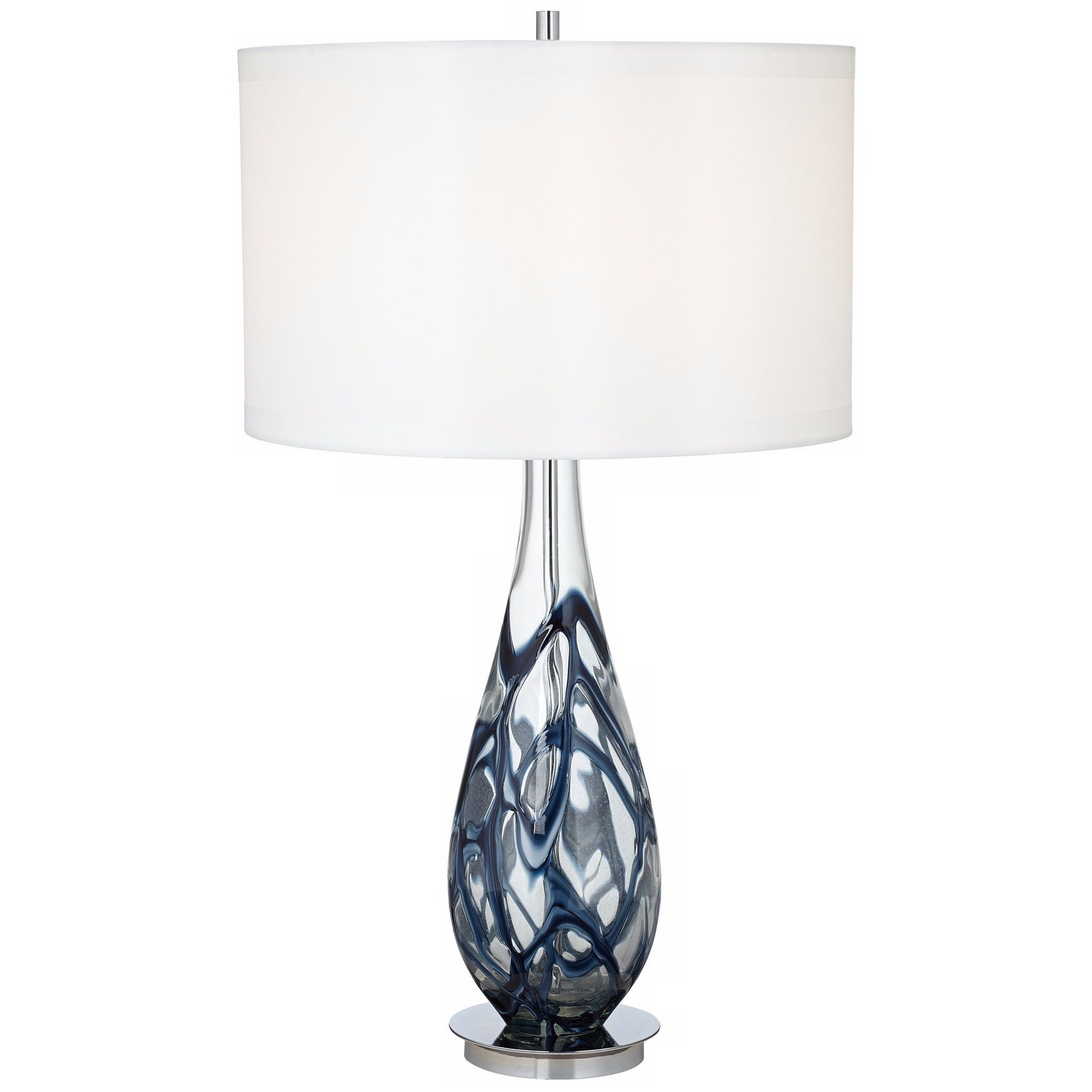 Table Lamps Indigo Swirl Art Glass Table Lamp at Bennett's Furniture and Mattresses