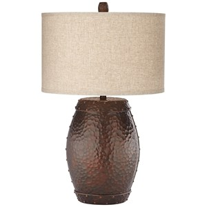 Faux Metal Barrel- Emory Table Lamp