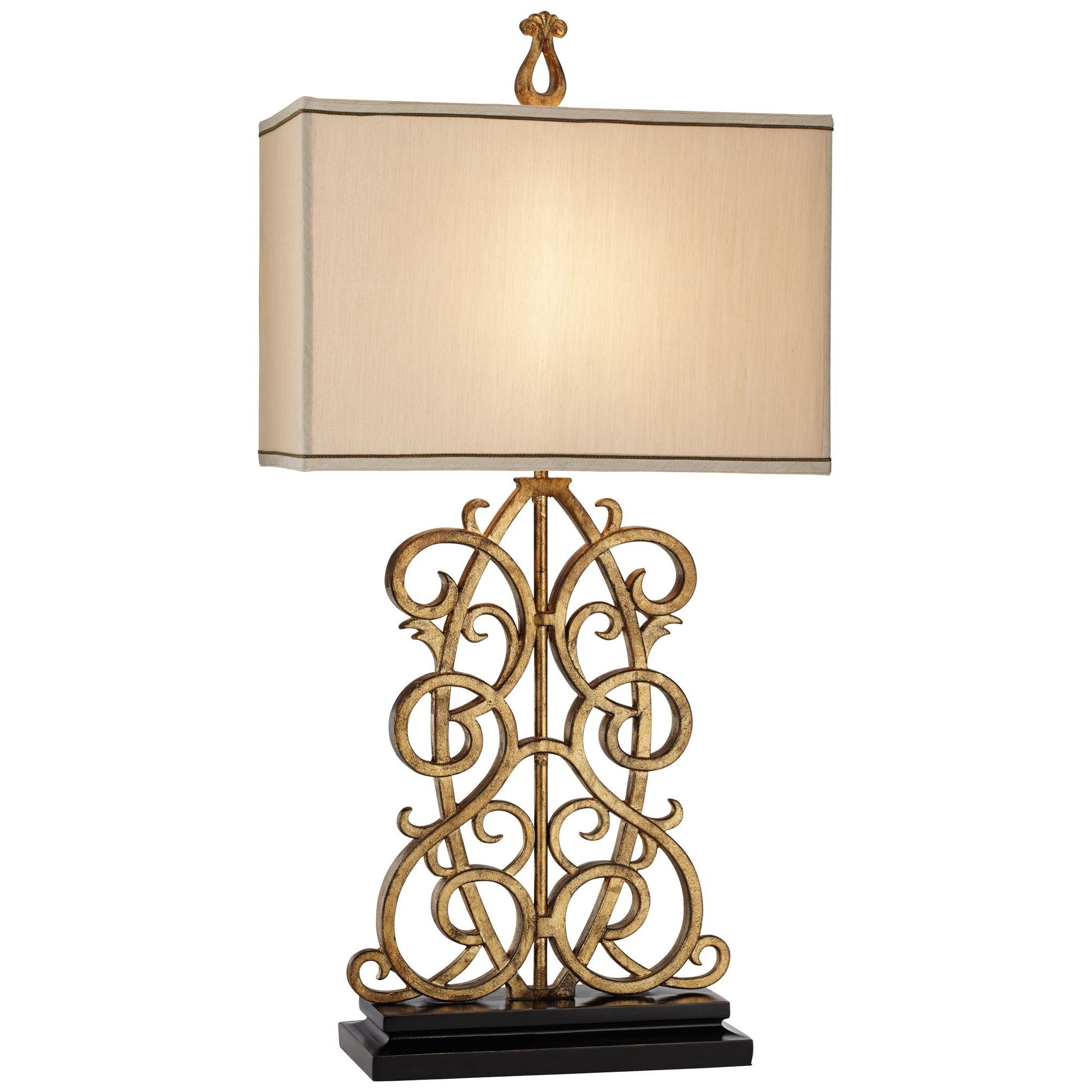 Table Lamps Scroll Metal Table Lamp  at Bennett's Furniture and Mattresses