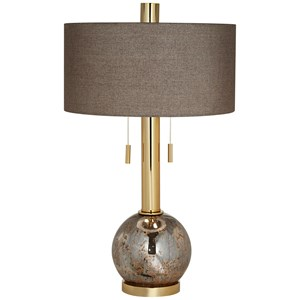 Warm Gold Ant Mercury Table Lamp