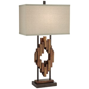 Bonanza Wood Tones Table Lamp