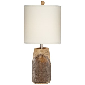 Simple Faux Wood Table Lamp