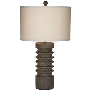 Column Faux Wood Table Lamp