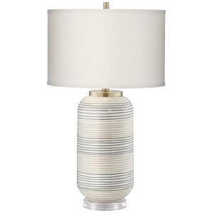 Striped Adler Table Lamp