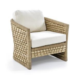 Capitola Woven Rattan and Lampakani Lounge Chair