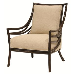 Transitional Crescent Lounge Chair