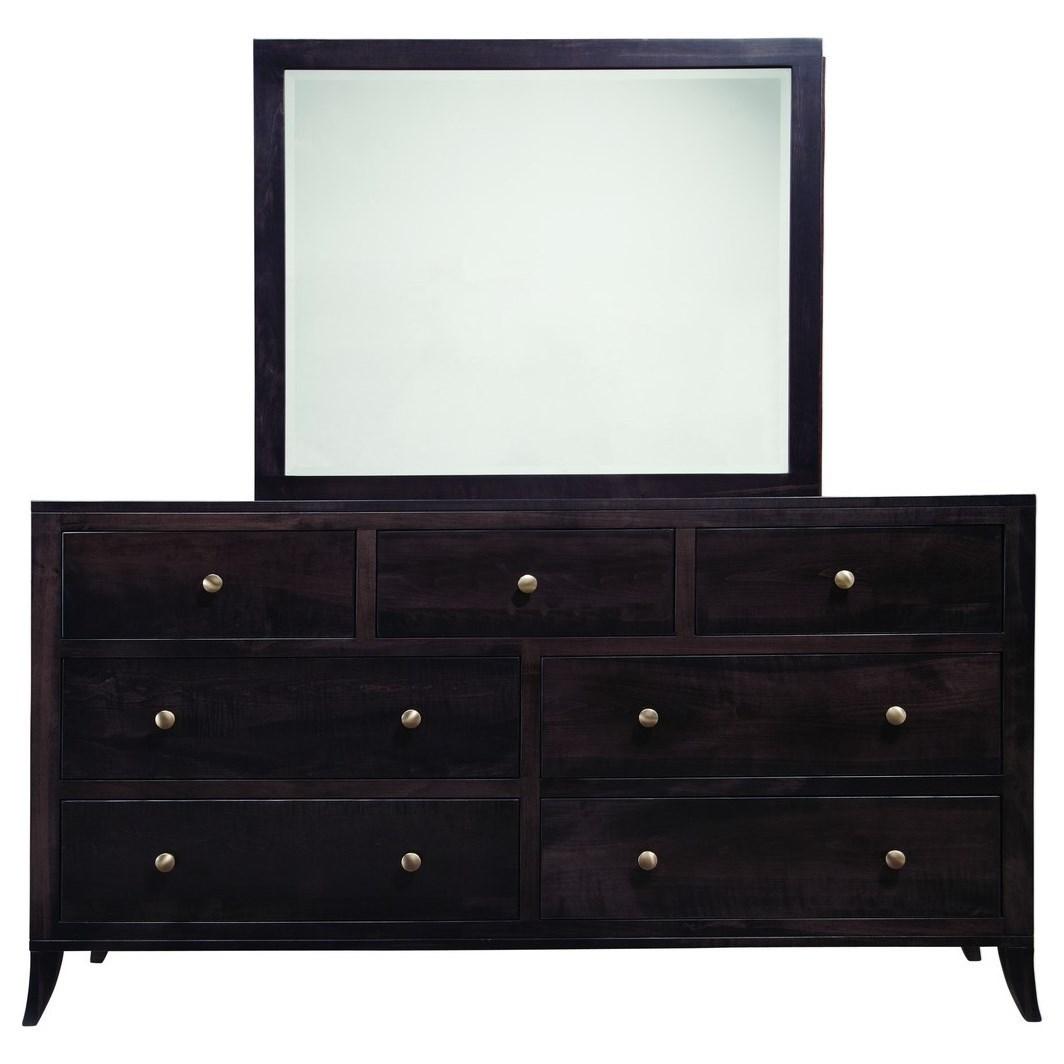Adrienne PW Dresser and Mirror Set by Palettes at Virginia Furniture Market