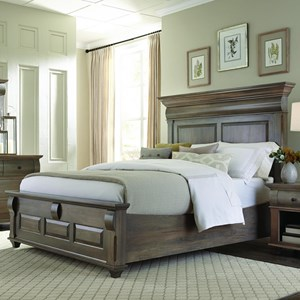 Queen Panel Bed with Low Footboard