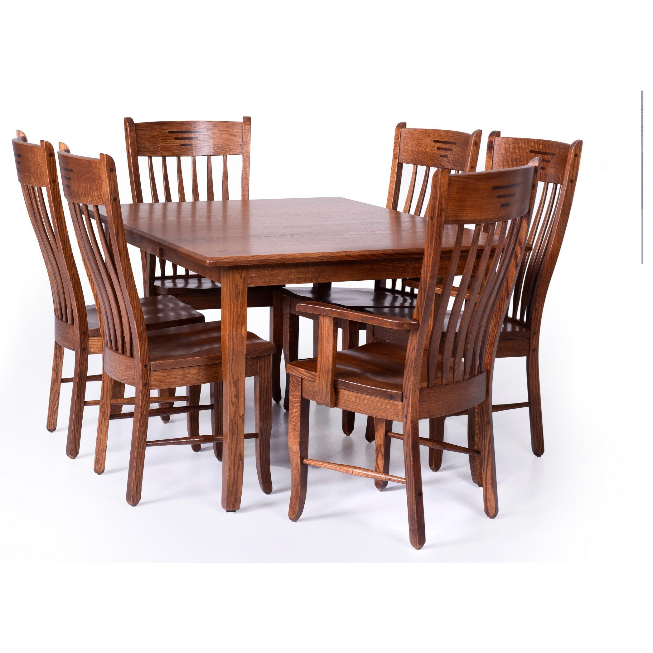 Classic Shaker Customizable 7 Piece Dining Set by Palettes by Winesburg at Dinette Depot