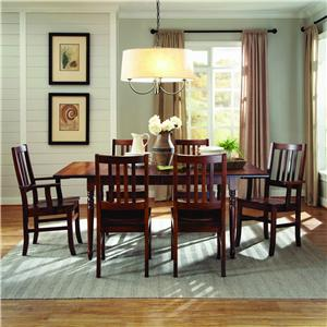 Customizable 7 Pc. Drop Leaf Table & Chair Set