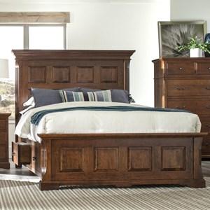 Queen Size Panel Storage Bed