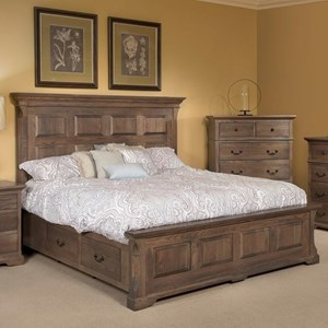Queen Size Panel Storage Bed