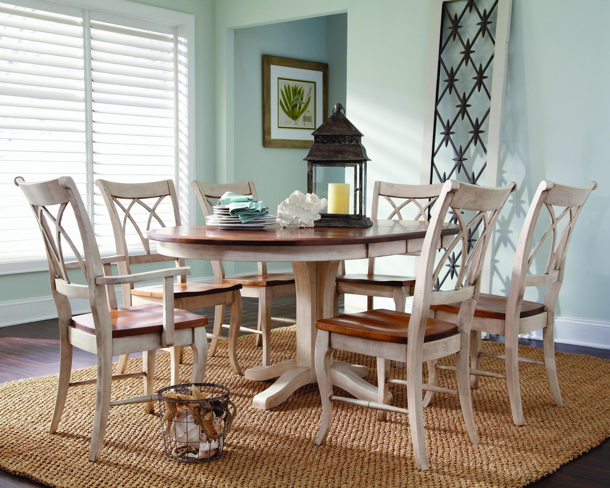 Adams Customizable 7 Pc. Table Set by Palettes by Winesburg at Dinette Depot
