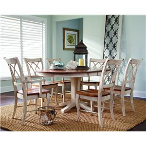 Customizable 7 Pc. Oval Table & Chair Set