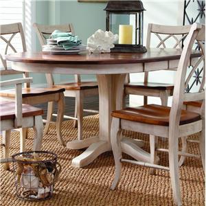 Customizable Oval Single Pedestal Table