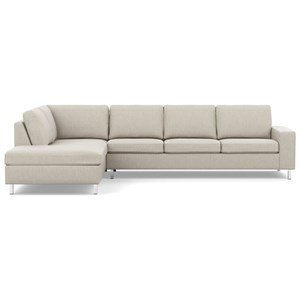 Contemporary Sectional Sofa with Left Arm Facing Chaise