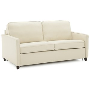 Contemporary Sofa Sleeper with Heat Control Double Mattress