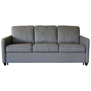Contemporary Sofa Sleeper with Heat Control Queen Mattress
