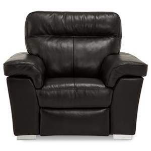 Contemporary Wall Hugger Power Recliner with USB Port