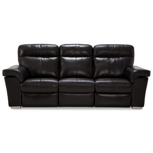 Contemporary Power Reclining Sofa with USB Ports