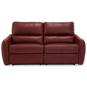 Contemporary Power Sofa with Tapered Arms