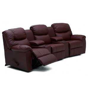 Three Recliner Home Theater Sectional