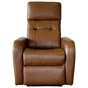 Contemporary Wall Hugger Power Recliner with Power Headrest