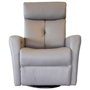Contemporary Power Swivel Glider Recliner with Power Headrest