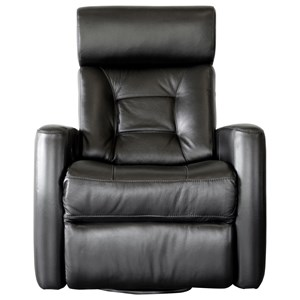Contemporary Power Swivel Gliding Recliner with Power Headrest