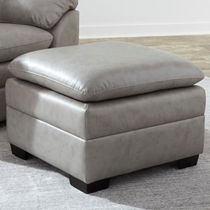 Casual Ottoman with Block Feet